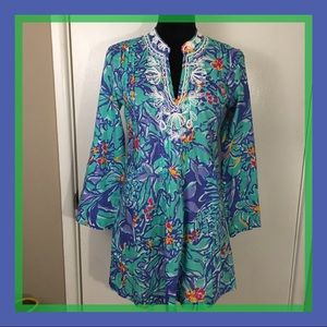 Lilly Pulitzer Mai Tai Sarasota Beaded Tunic S